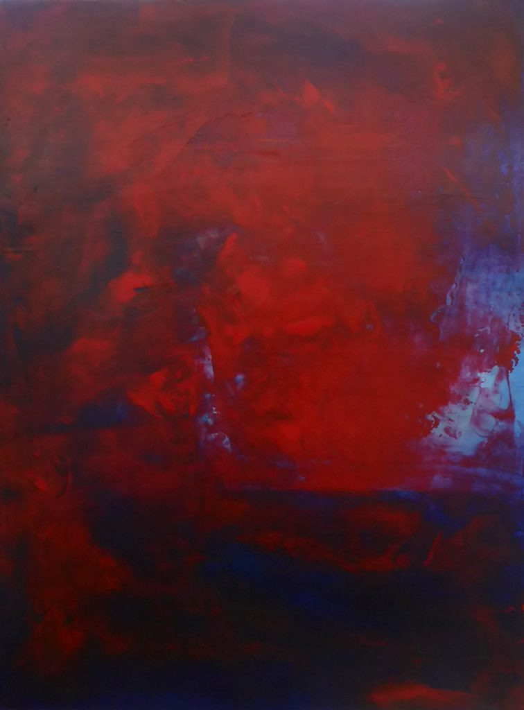 deep red, fluid abstraction