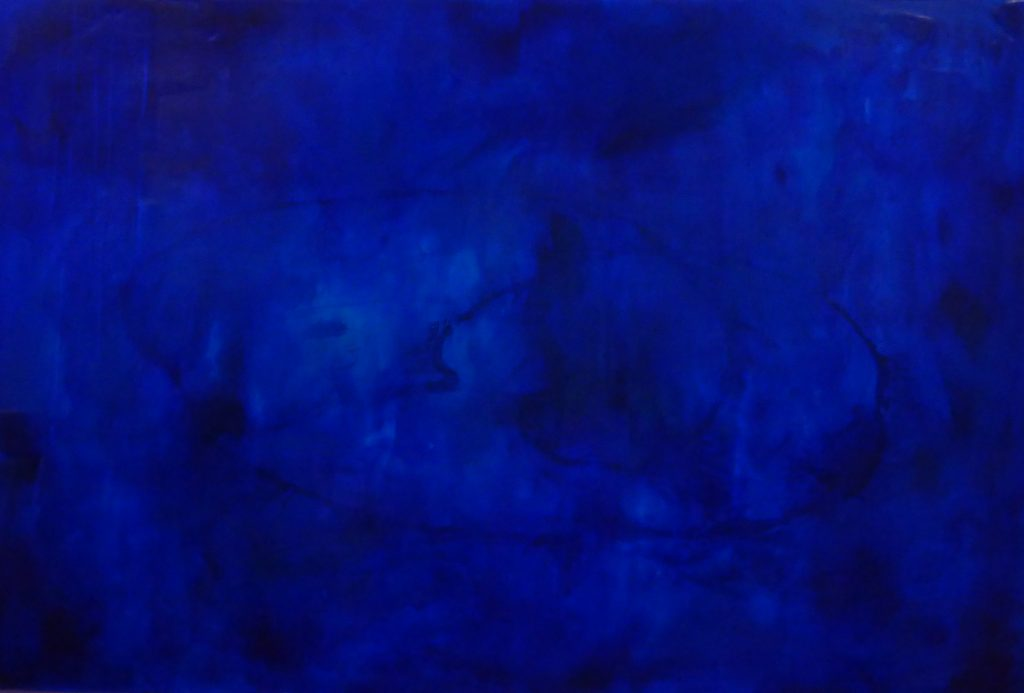 deep ultramarine blue, acrylic, pouring medium, oval line