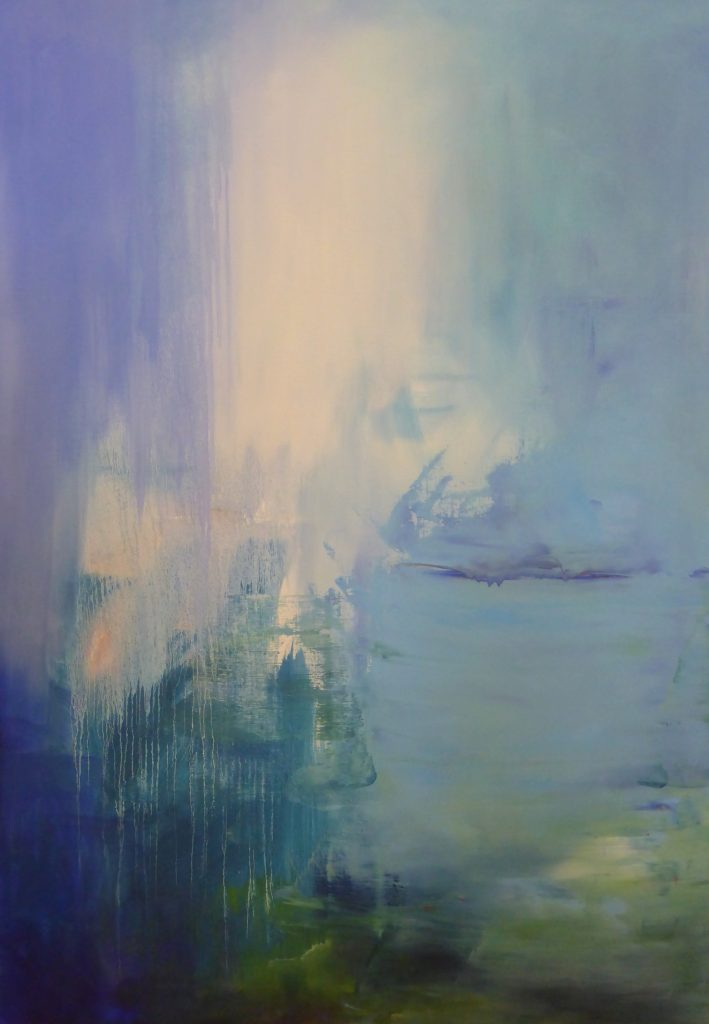 abstract, cool blue and green, water imagery