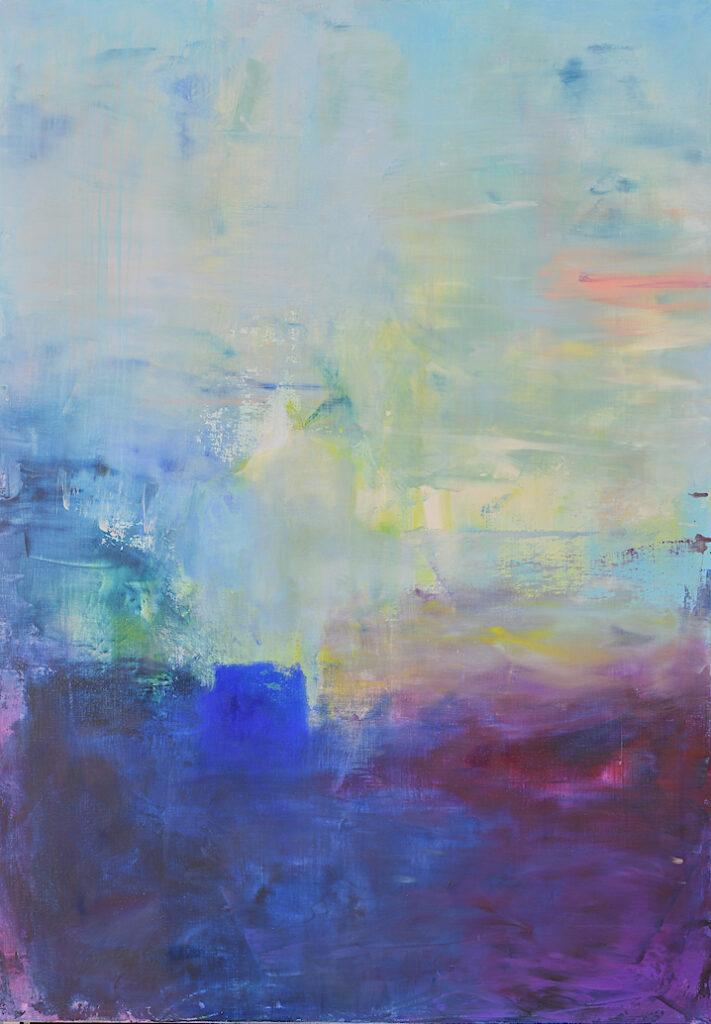 cobalt blue, violet, abstract, arctic