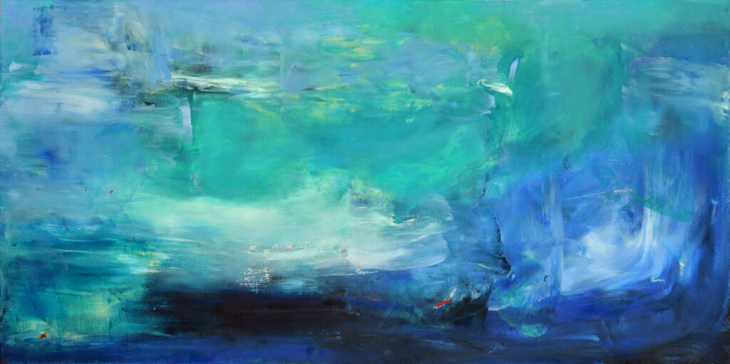 turquoise, abstract, ultramarine, paynes gray, fluid abstraction
