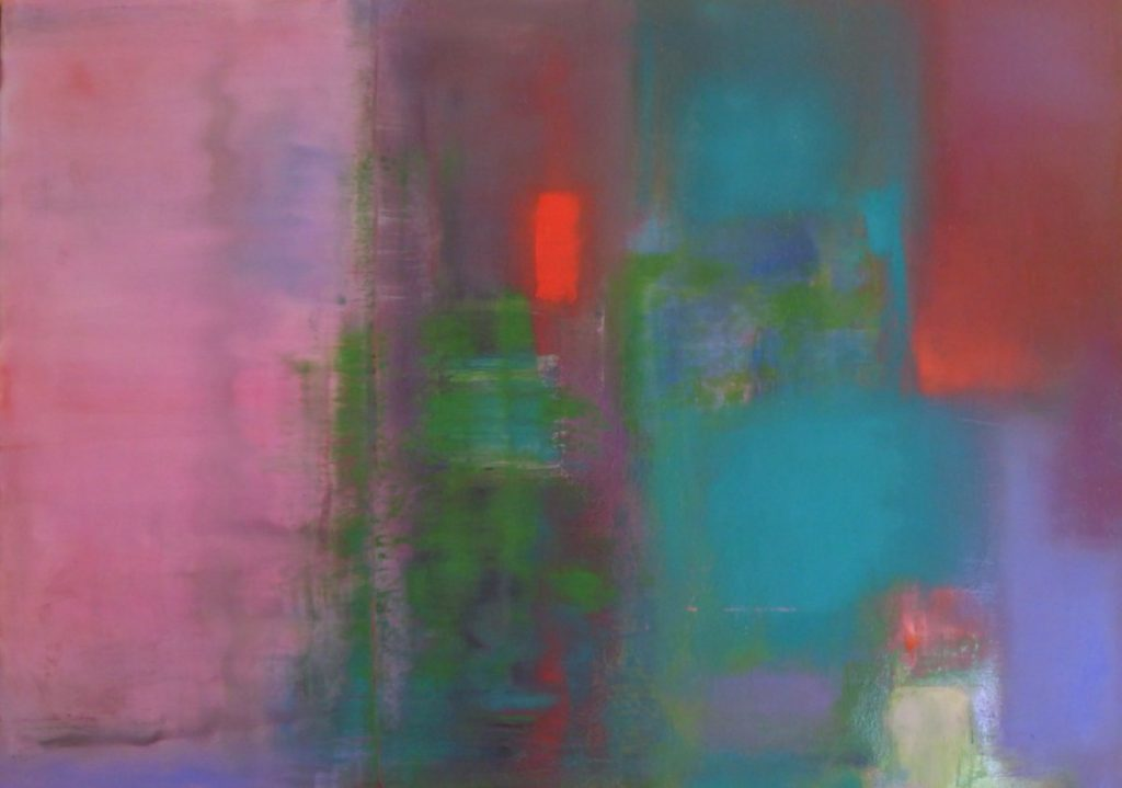 abstract, pink, violet blue, soft forms